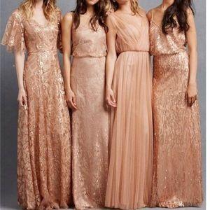 BHLDN Apricot tulle dress -NWT